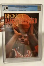 Beckett Magazine #1 Jordan First Cover Newsstand CGC 8.0