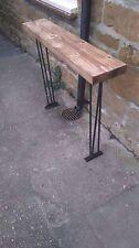 Bespoke  H80 x W80 x D22cm steampunk rustic black industrial steel console table