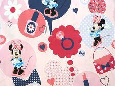 Stoff Baumwolle Disney rosa Minnie Mouse Maus Micky Kinderstoff Herz MW 9078