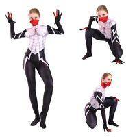 Silk Cindy Moon Cosplay Costume Jumpsuit Bodysuit Mask Women Girls Spiderman