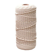 100% Natural Beige Cotton Twisted Cord Crafts Macrame Artisan String 100 m