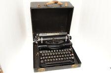 VINTAGE 1930s REMINGTON RAND MODEL 1 PORTABLE TYPEWRITER w/CASE NICE
