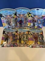 Lot Of 6 Good Guys Star Trek The Next Generation Action Figures Vintage TNG