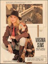 1991 tobacco print Ad, VIRGINIA SLIMS Cigarettes, pretty blonde model (071114)