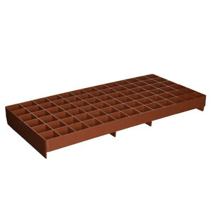 Hydrofarm RW205002 Grodon Double-Sided Terracotta Gro-Smart Tray with 78 Cells