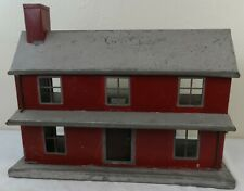 Unusual Painted Tin Two Story Doll House Ca. 1900-1920
