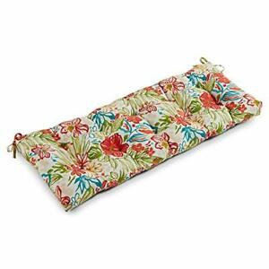 South Pine Porch Outdoor Breeze Floral 51-inch Bench Cushion 51x18