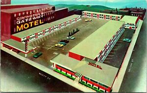 Covington KY Gateway Motel Full View Postcard Unused (30256)
