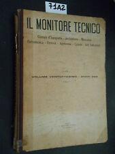 IL MONITORE TECNICO giornale d'ingegneria architettura catasto 1922 (71 A 2)