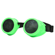 Steampunk goggles green steam punk lentilles vintage cyber cosplay goth lunettes