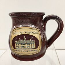 Deneen Pottery Mount Vernon Home George Washington Coffee Mug