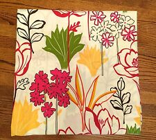 POTTERY BARN FULL QUEEN Red Yellow Green STYLIZED FLORAL DUVET Cover ~ Cotton