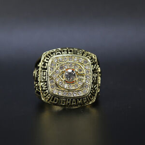 Walter Payton - 1985 Chicago Bears Super Bowl Gold Color Ring WITH Wooden Box