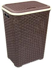 XXL Wäschekorb Wäschetruhe Wäschebox Wäsche Rattan Kunststoffkorb praktisch !!
