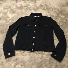 Moschino Jeans Donna Jacket Navy Blue Women's Size Medium Denim Buttons EUC