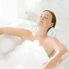 Foam Pillow Bathtub Head Rest Spa Neck Cushion With Suction Cup Bathroom UK