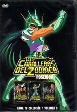 Los Caballeros Del Zodiaco DVD VOL 3 POSEIDON, 37 CAPITULOS Español Latino NEW
