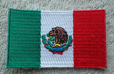 MEXICO FLAG PATCH Embroidered Badge Iron Sew on 3.8cm x 6cm México North America