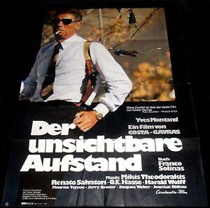1972 State Of Siege ORIGINAL Germany A1 POSTER État de siège Costa-Gavras