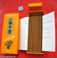 200 bastoncini incenso giapponese Nippon Kodo AMBRA amber e mini brucia incenso