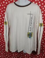 Vtg Tommy Hilfiger Jeans Long Sleeve Graphic Shirt Spellout 90s XL USA A156