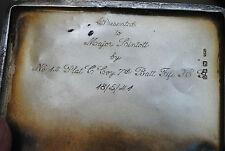 Fife home guard solid silver cigarette case