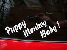 "PUPPY MONKEY BABY ! DECAL 9"" X 3""  FOR YOUR CAR. #  STICKER AUTO DEW  KICKSTART"