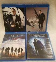 Lot of 4 Bluray Movies Skyfall, Quantum of Solace, Act of Valor, The Dark Knight