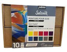 Pebeo Setasilk Collection Fabric Paint 10 x 45ml Silk Painting Gift Set 758485