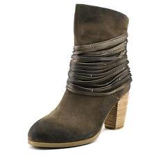 New Antelope BANGLES Women's 41/10 Suede Leather Stud Fringe Back Zip Boot Grey
