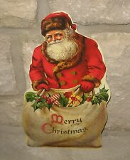 Bethany Lowe SANTA CLAUS Merry Christmas Sign*Primitive/French Country Decor