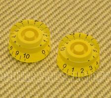 PK-MSI-Y (2) Yellow Metric Speed Knobs 6mm Split Shaft Pots Import Guitars