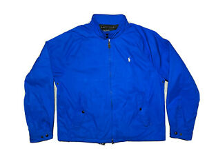 Mens Polo Ralph Lauren Waterproof Jacket, Blue Bomber, X Large RRP £395 NEW