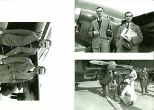 SET OF 3 - LOT #32  B&W 4X6 PHOTOGRAPHS - RACING AIRPLANES & AVIATION