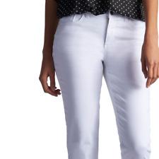 Lee Easy Fit Women's White Denim Crop Pants Size: 14 Med $48