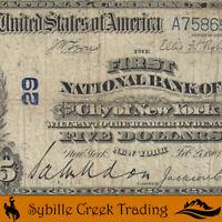 1902 $5 NEW YORK, NY NATIONAL BANK NOTE    8698-P