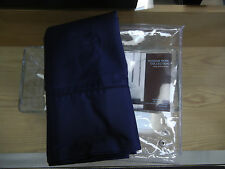 New Hudson Park 500 TC Pima Cotton King Pillowcases Marine Navy