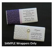 1 x SAMPLE WRAPPER ONLY for Lindt Personalised Chocolate Bars PEBBLE with Buckle