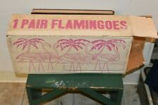 Vintage UNION PRODUCTS Early Plastic Pink Flamingos BLOW MOLD SEARS BOX no 6116