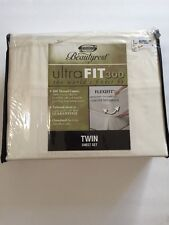 Simmons Beauty Rest Ultra Fit 300 Thread Count 100% Cotton Twin Sheet Set NEW