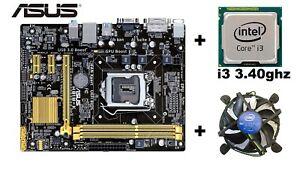 placa base ASUS H81M-K  + procesador I3 3.40GHZ 4130 4ºGEN  + ventilador