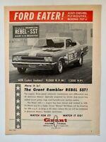 """Banzai"" Bill Hayes Grant Rambler Rebel SST 1967 Grant Piston Rings Print Ad"