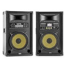 (B-WARE) DJ PA AKTIV PASSIV LAUTSPRECHER USB SD BOXEN PAAR 25CM (10