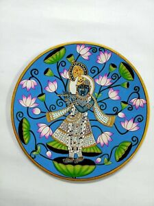 Wall painting wooden plate handpainted pichwai artwork decorative