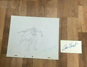 BATMAN  1968 PRODUCTION CEL  PENCIL  DRAWING W/ ADAM WEST  HAND  SIGNED