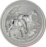 Australien 8 Dollars 2014 Jahr des Pferdes 5 Oz Lunar II Silbermünze Anlagemünze