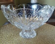 """Marquis by Waterford 8"""" Scalloped large Crystal Tulip Bowl"""