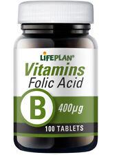 Lifeplan Folic Acid 400ug  100 tablets