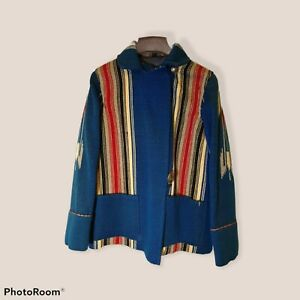 RARE Vintage CHIMAYO Wool Blanket Style Jacket