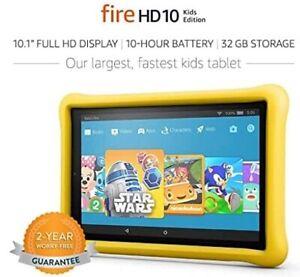 "Amazon Fire HD 10 Kids Edition Tablet, 10.1"" 1080p Full HD - 32GB - Brand New!"
